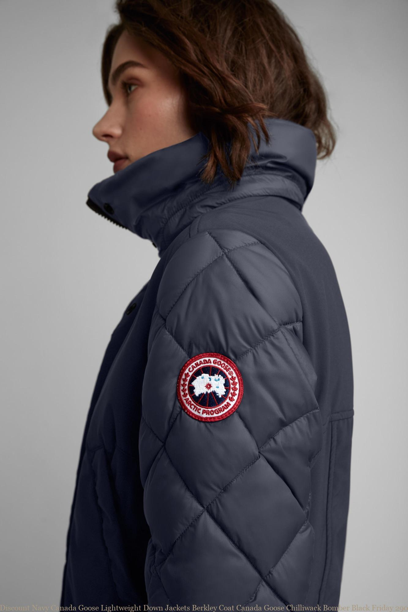 7e40e27810d Discount Navy Canada Goose Lightweight Down Jackets Berkley Coat Canada  Goose Chilliwack Bomber Black Friday 2905L