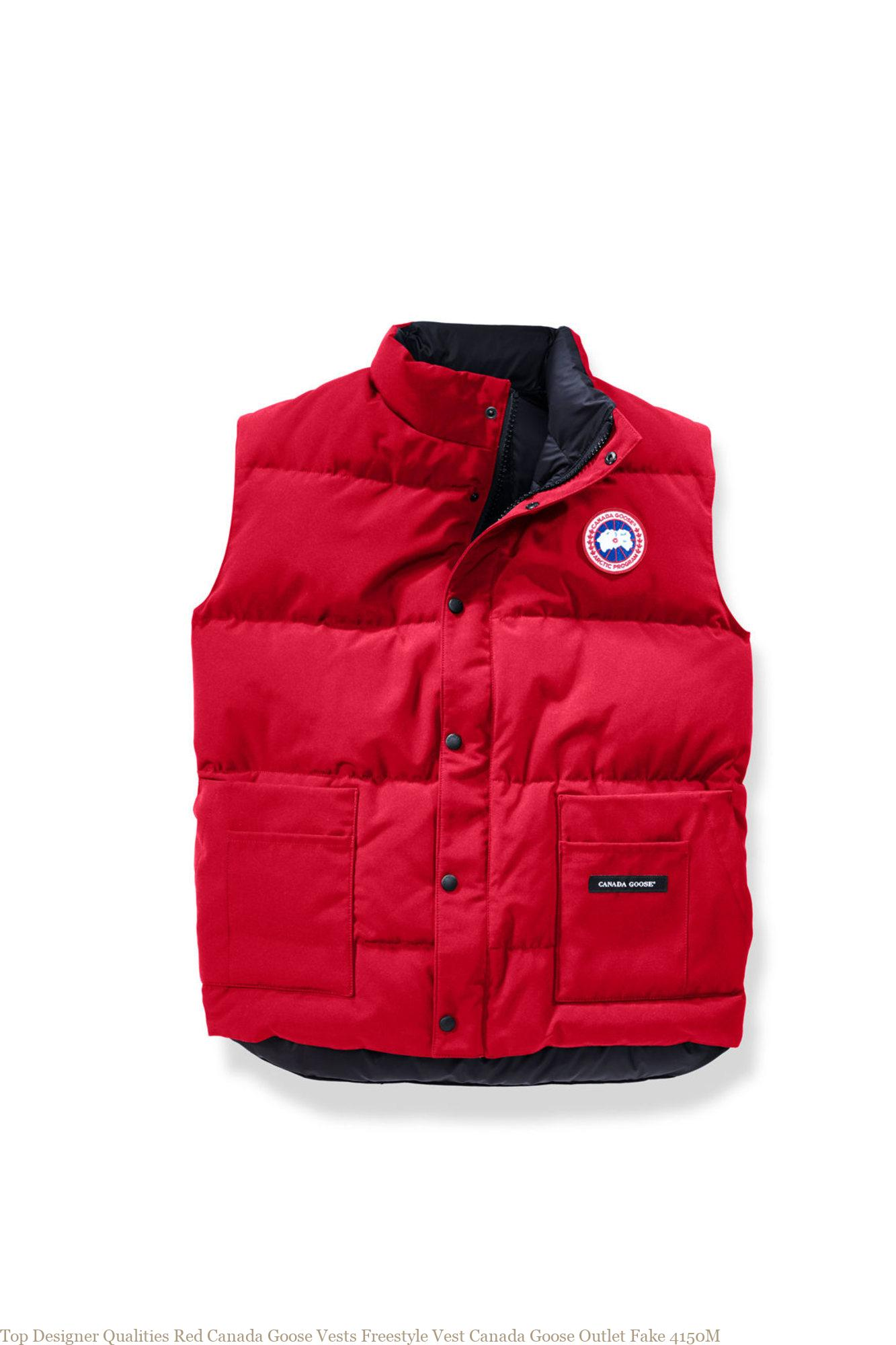 Top Designer Qualities Red Canada Goose Vests Freestyle Vest Canada Goose Outlet Fake 4150M